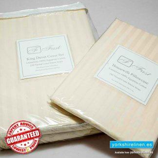 Wholesale 250TC Egyptian Cotton Ivory Duvet Cover Set