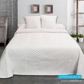 Wholesale Espiga Jacquard Bedspread White