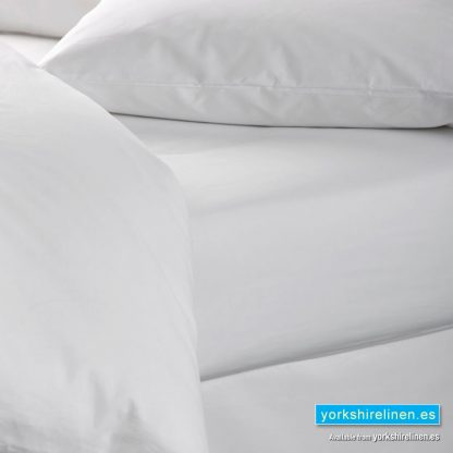 Wholesale White 100% Cotton Fitted Sheet